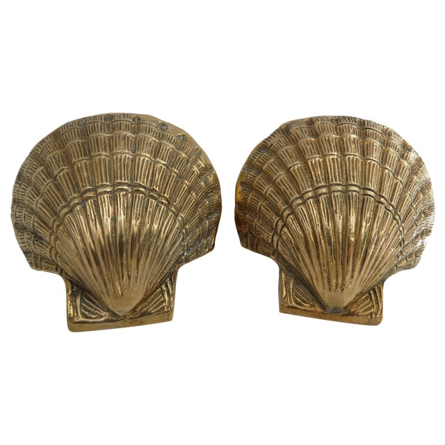 Brass Shell Bookends - Image 1 of 7