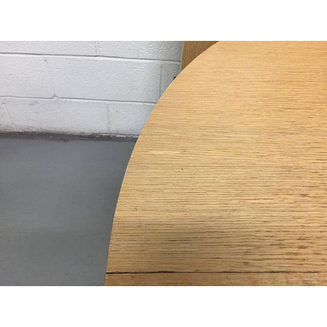 Cerused Oak Dining Table With Two Extensions For Sale In New York - Image 6 of 6
