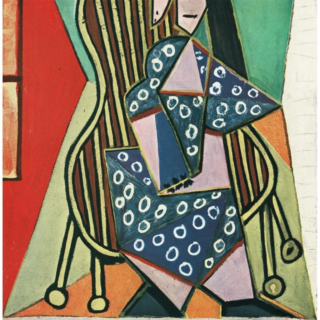 "Pablo Picasso 1943 Picasso Original ""Femme Assise"" Period Lithograph For Sale - Image 4 of 10"