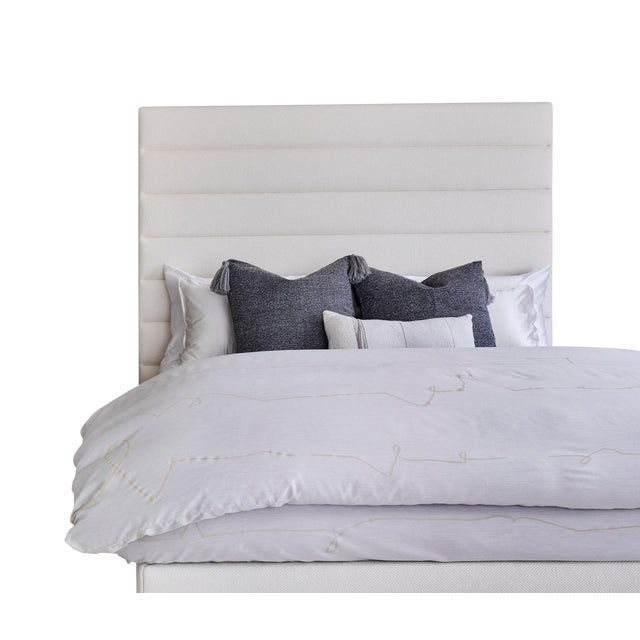 Featured in The 2020 San Francisco Decorator Showcase — Kristen Pena Custom Upholstered Bed Frame For Sale