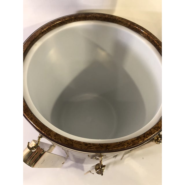 Vintage Marble Pattern With Gold Accent Ice Bucket & Bar Tools ManCave MadMen Style Decor For Sale - Image 4 of 13