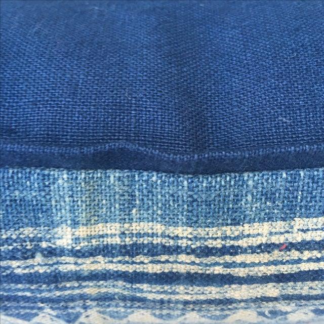 Blue & White Batik Cotton Pillows - Pair - Image 4 of 5