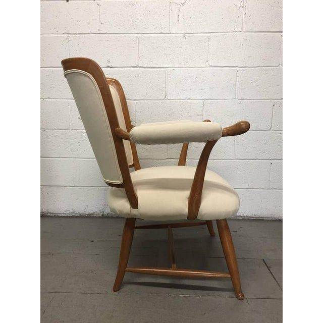 French Country Pair of 1950s French Country Armchairs For Sale - Image 3 of 8