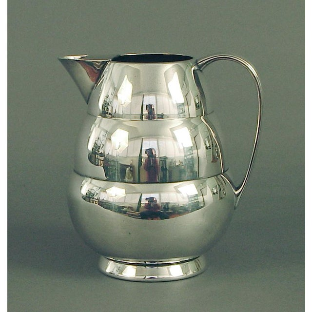 Metal 1920s Art Deco Silver Plate Water Pitcher by the International Silver Co, of Meriden Ct For Sale - Image 7 of 7