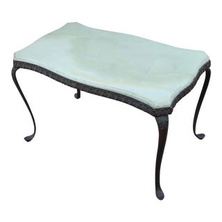 19th Century Antique Art Nouveau Bronze Onyx Top Coffee Table For Sale