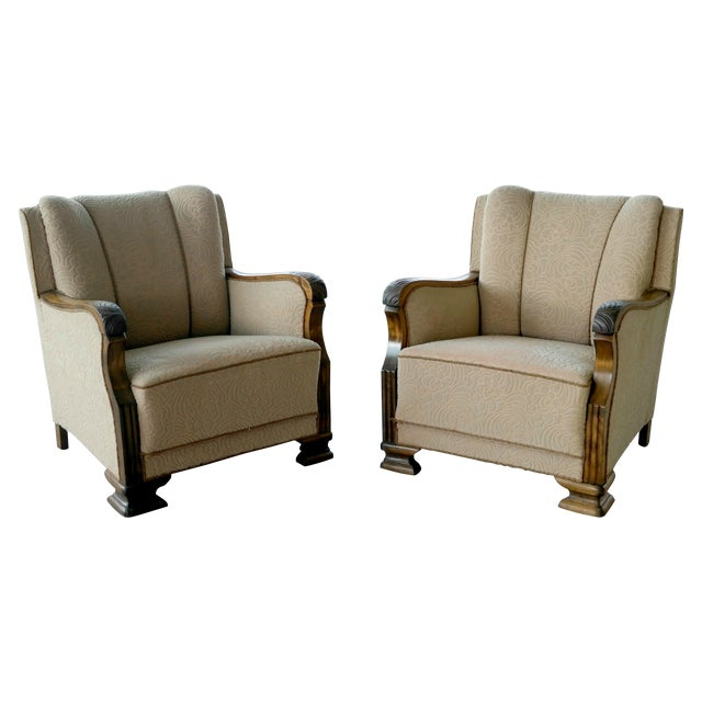 Danish 1940's Club Chairs - A Pair - Image 1 of 8