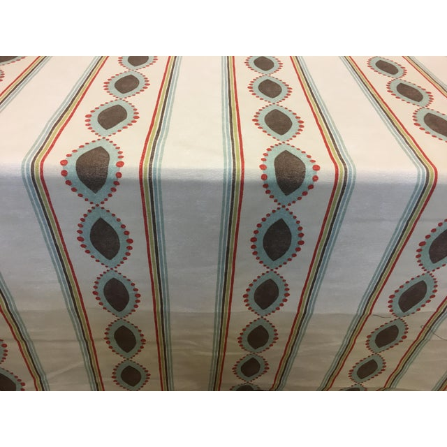 "Osborne & Little / Nina Campbell Broadway Collection ""Showboat"" printed fabric is 55"" wide and is 100% Cotton with a 5..."