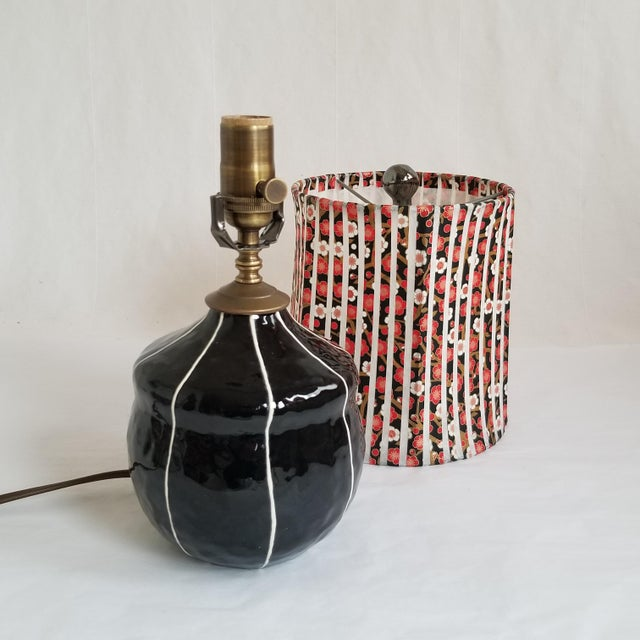 Contemporary Contemporary Black Ceramic Table Lamp For Sale - Image 3 of 5