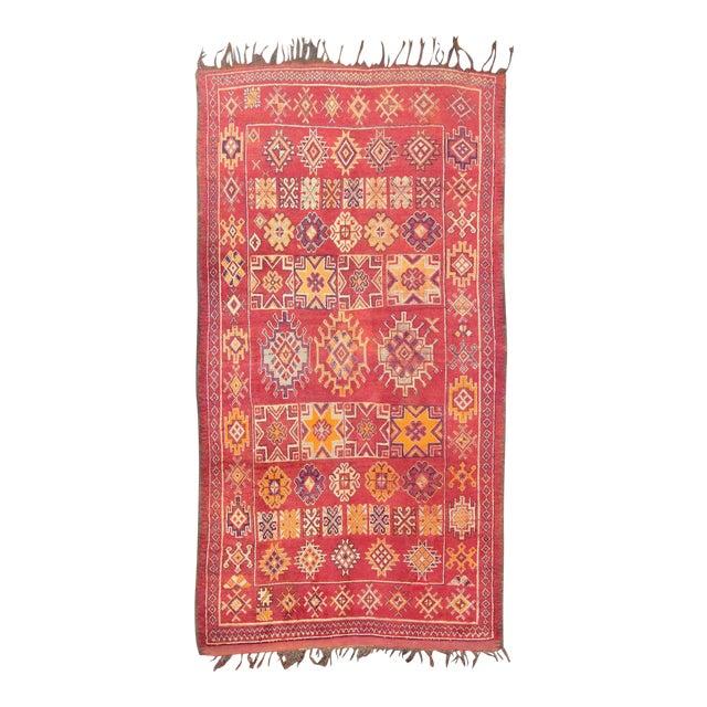 Keivan Woven Arts, S12-0410, Vintage Mid-Century Moroccan Rug - 5′4″ × 10′ For Sale