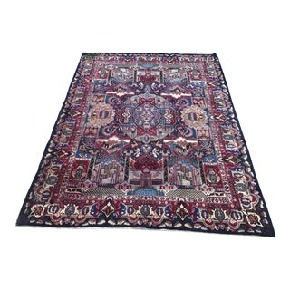 Pictorial Antique Persian Rug - 10' x 13' For Sale