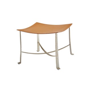 Selamat Designs Klismos Silver Finish Wrought Iron Stool