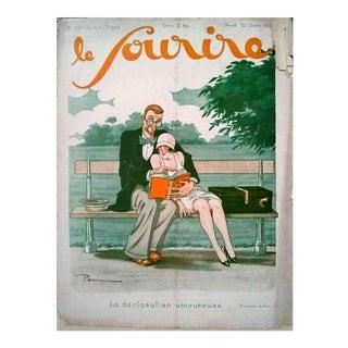 """Pem 1926 """"La Declaration Amoureuse"""" Le Sourire Print For Sale"""