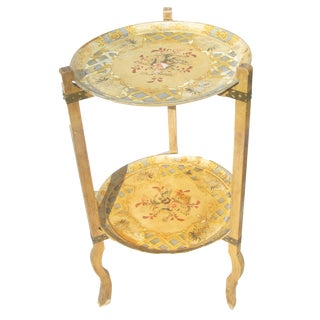 Florentine Foldable Two-Tier Tray Table For Sale