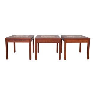 John Keal for Brown Saltman Mid-Century Modern End Tables - Set of 3