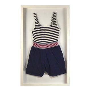 Framed Red, White, & Blue Swim Suit