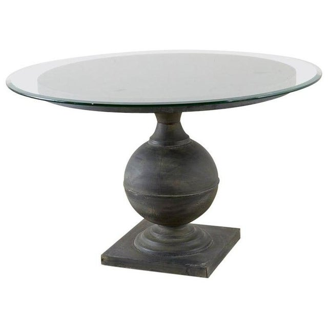 Neoclassical Patinated Metal Pedestal Dining or Centre Table For Sale - Image 13 of 13