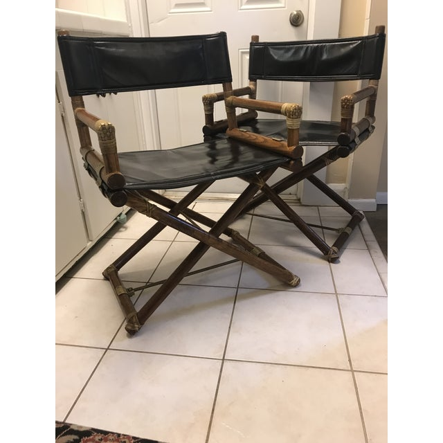 McGuire Director Folding Chairs - Pair For Sale - Image 5 of 5