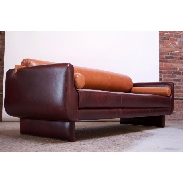 Leather 'Matinee' Sofa / Daybed by Vladimir Kagan For Sale - Image 13 of 13