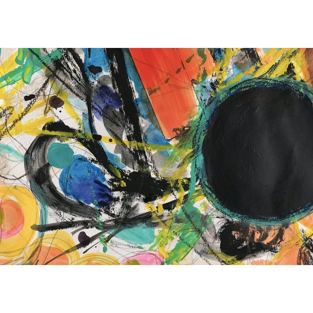 Abstract Expressionist Painting by Tony Marine For Sale - Image 4 of 5