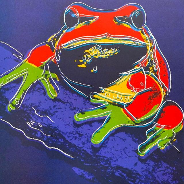 "Andy Warhol Andy Warhol Estate Vintage 1989 Endangered Species Framed Lithograph Print "" Pine Barrens Tree Frog "" 1983 For Sale - Image 4 of 13"