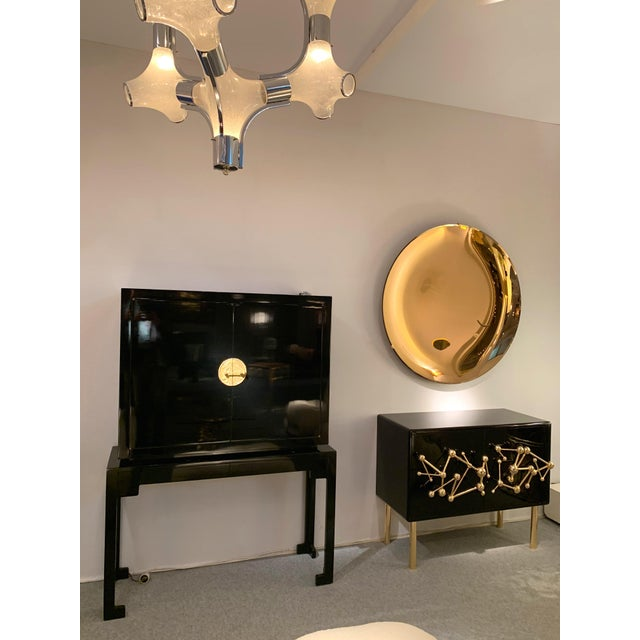 Italian Contemporary Curve Convex Mirror For Sale - Image 6 of 11