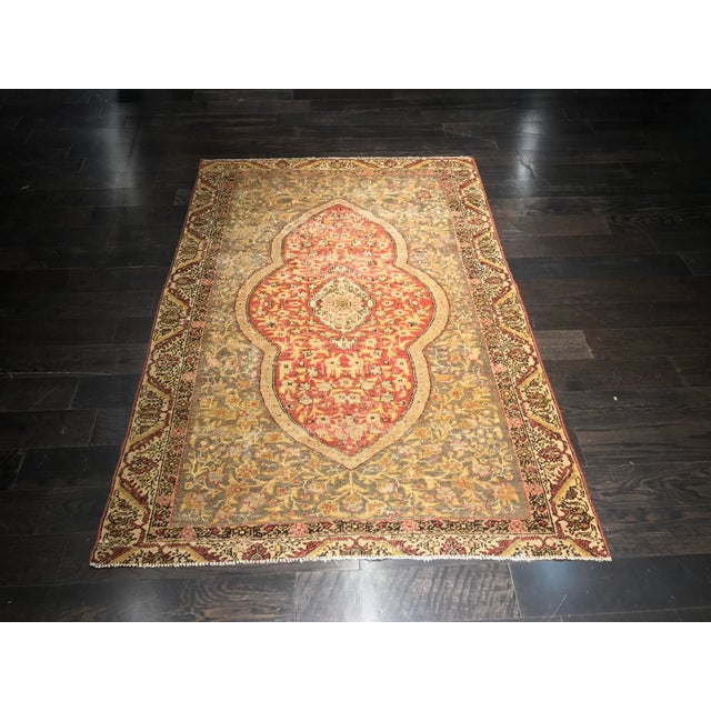 Bellwether Rugs Distressed Look Vintage Turkish Oushak Area - 4'x6' - Image 2 of 11
