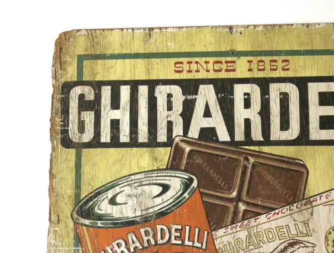 Wall Sized 1915 Chocolate Billboard Ghirardelli Sf Sign   Image 5 Of 6