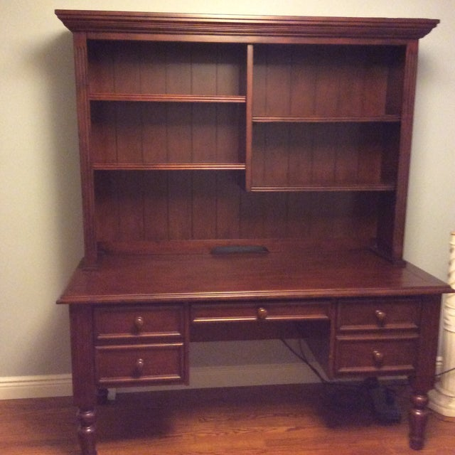 3 drawer desk with hutch -like new home office ensemble less than 2 years old. Barely used