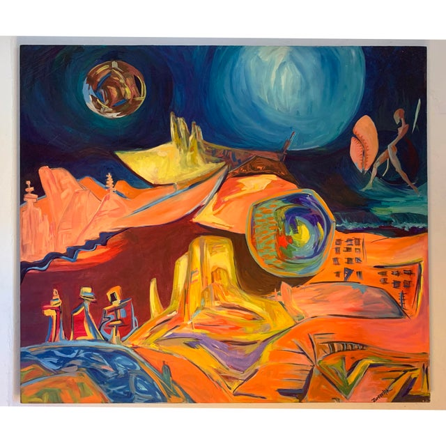 Large Surrealist Canvas Painting For Sale - Image 13 of 13