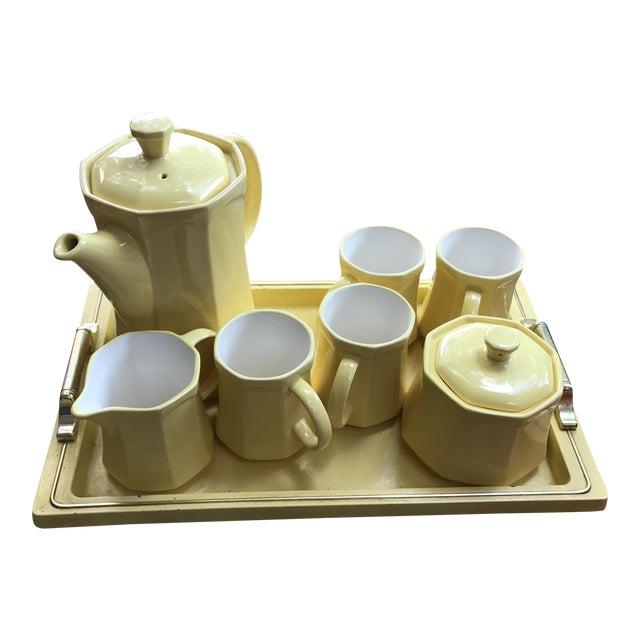 Mid-Century Modern Japanese Tea Serving Set - Set of 8 For Sale