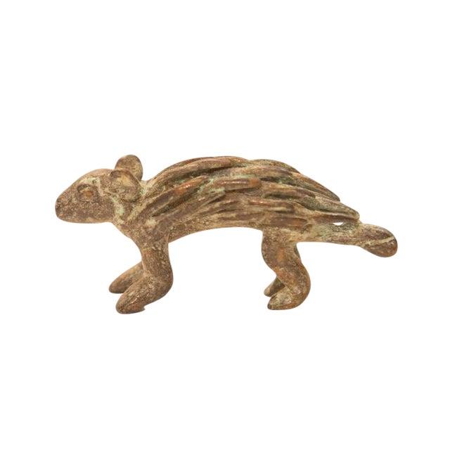 Vintage Bronze Porcupine Figurine / Ashanti Gold Weight For Sale