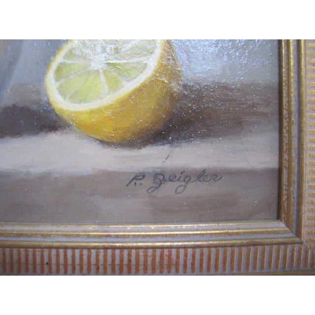 Wonderful painting with painterly strikes and light. Perfect size to fit any space