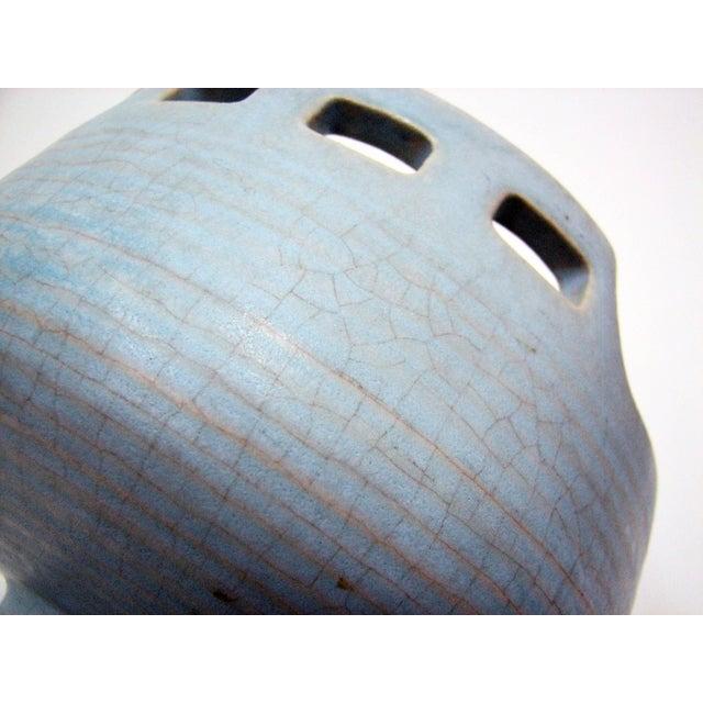 Mid 20th Century Mid-Century Azure Ikebana Vase For Sale - Image 5 of 10