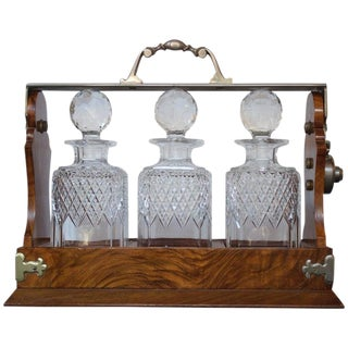 19th Century Antique English Tantalus Decanters - 4 Pieces For Sale