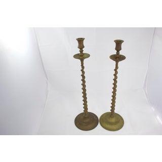 Tall Bronze Candlesticks, Pr Preview
