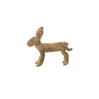 Vintage African Oxidized Bronze Jack Rabbit For Sale
