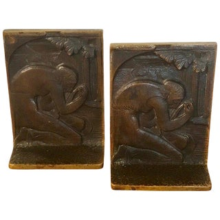 Pair of Art Deco Bronze Bookends in the Style of Paul Manship For Sale
