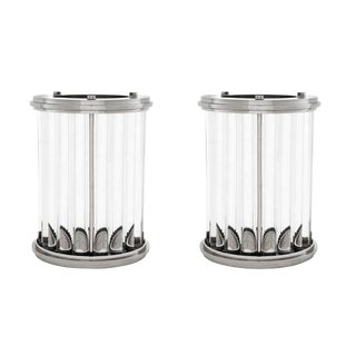 Deco Fluted Hurricanes - A Pair For Sale
