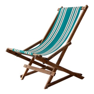 Vintage American Deck Chair For Sale