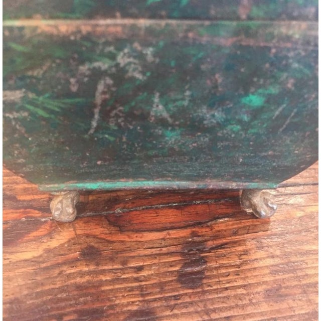 19th Century Folk Art Patinaed Wooden Caddy For Sale - Image 4 of 7