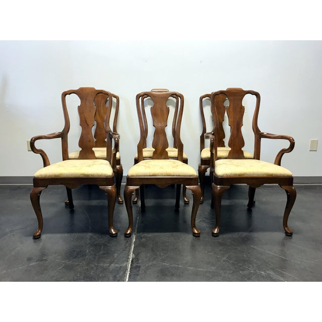 6e252aefccdd0 Henredon Walnut Queen Anne Dining Chairs - Set of 6 For Sale - Image 11 of