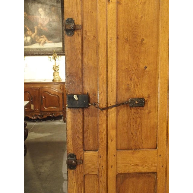 Early 20th Century Early 1900s French Louis XIV Style Oak Entry Door For Sale - Image 5 of 11