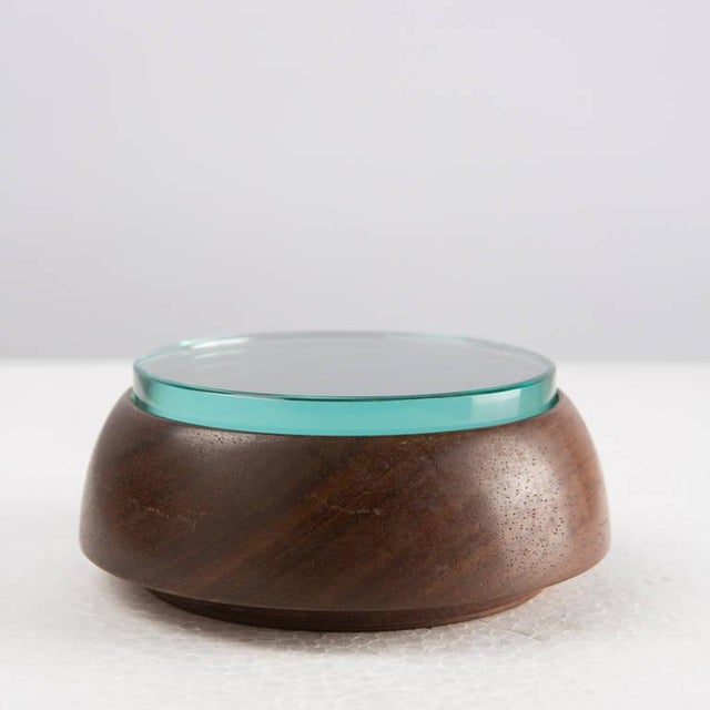 Mid-Century Modern Crystal and Wood Box For Sale - Image 3 of 8