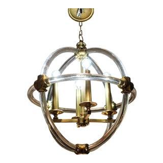 Globe Pedant Light Fixture For Sale
