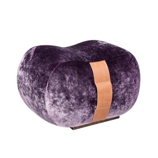 Marie Burgos Design Purple Milo Bean Ottoman For Sale