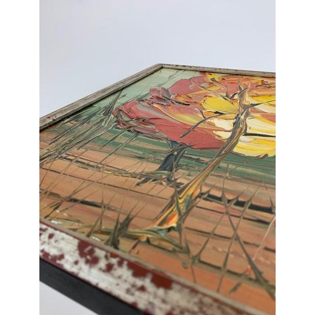 Expressionism Vintage Landscape Painting Signed Fuller For Sale - Image 3 of 10