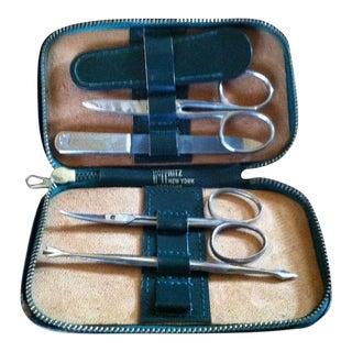 Vintage Hoffritz Germany Nyc Gentleman's Leather Grooming Kit For Sale