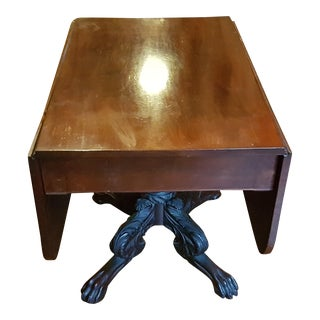18th Century Neoclassical Clawfoot Dropleaf Table For Sale