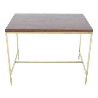Paul McCobb Brass and Walnut End Table For Sale