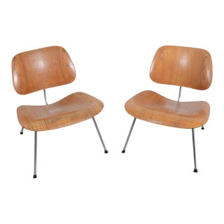 Eames LCM Lounge Chairs Molded Wood Herman Miller - A Pair For Sale